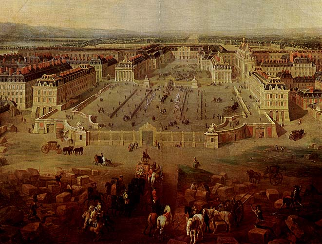 VIEW OF VERSAILLES, C. 1722 BY DENIS MARTIN